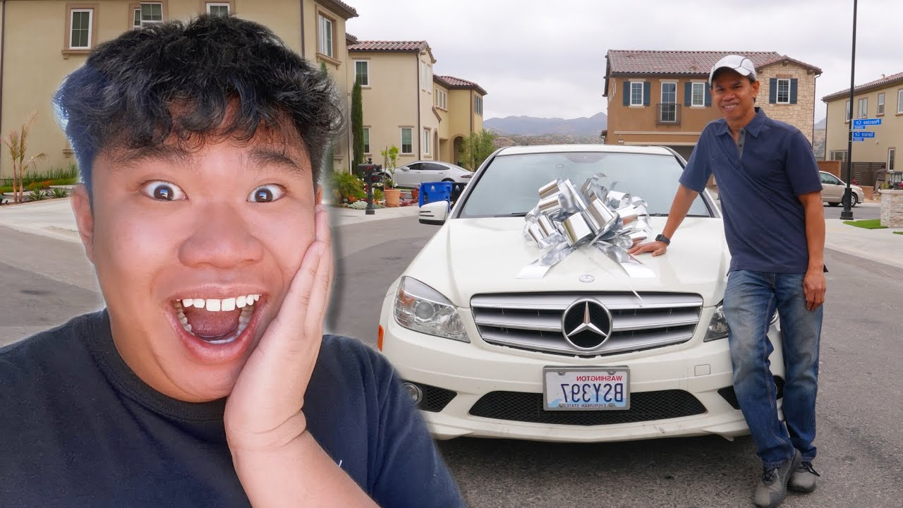 SURPRISING MY DAD WITH DREAM CAR!!