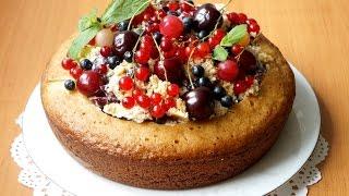 Любимые Рецепты. Манник летний. С ягодами и сметанным кремом