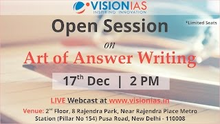 Open Session on Art of Answer writing