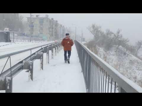 Город Холмск. Зима.