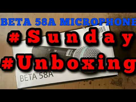 Unboxing Beta-58A Dynamic Vocal Karaoke Microphone with 3.5MM Connector