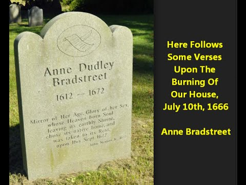 anne bradstreet upon the burning of our house