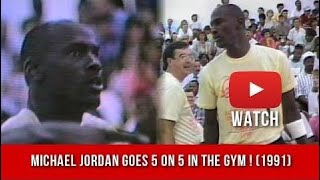 8e7641aa8f2 Michael Jordan Playing five on five Pick Up Basketball In The Gym ! (1991)
