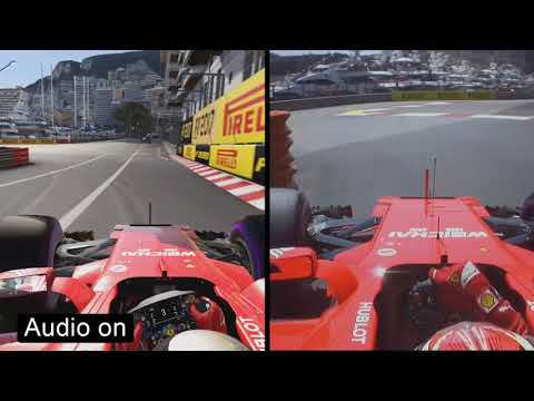 F1 2017 VS Real Life (Ferrari SF70H Comparison at Monaco)