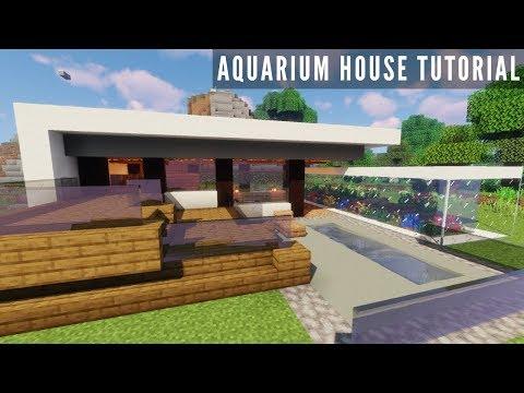 Minecraft: AQUARIUM HOUSE TUTORIAL | How to Build a Small Modern House (#2)