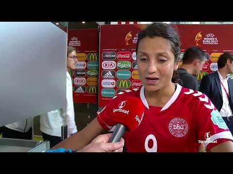 Nadia Nadim na plaatsing halve finale EK na winst vs Duitsland