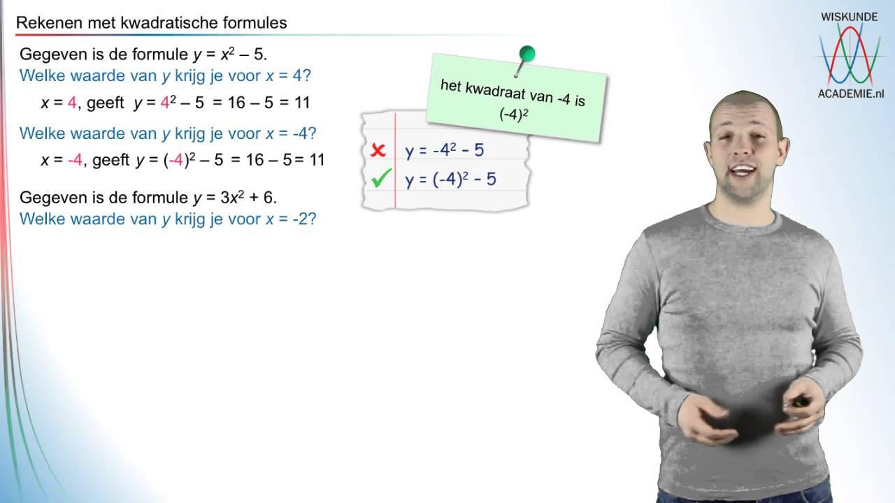 Kwadratische formules rekenen met kwadratische formules for Innendekoration tagerwilen