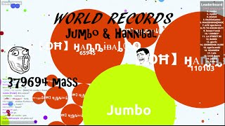 AGAR.IO JUMBO & HANNIBAL WORLD RECORDS [379.694 MASS]