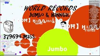 AGAR.IO JUMBO & HANNIBAL WORLD RECORDS [379.694 MASS]