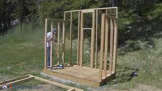How To Build A Lean To Shed - Part 2 - Wall Framing