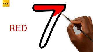 Learn how to draw numbers 1 to 10 – تعلم الأرقام من 1 إلى 10 باللغة الإنجليزية