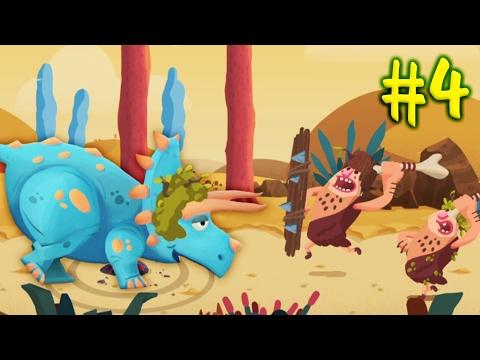 ДИНОЗАВРЫ ПРОТИВ ЛЮДЕЙ [4] Игровой мультик про динозавров для детей Игровое видео по игре Dino Bash