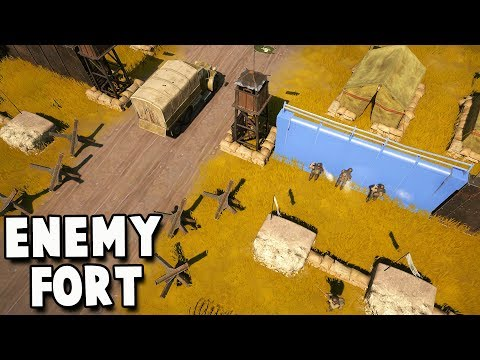 Invading the ENEMY FORT! The Great Battle Part 1 (Foxhole New Update Gameplay)