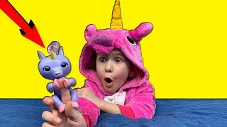 Lika and NEW TOY Baby FINGER UNICORN Video for kids JoyJoy Lika