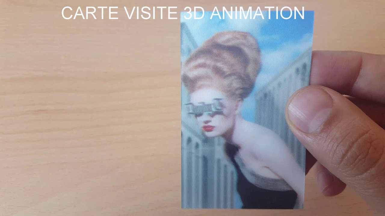 CARTE VISITE 3D