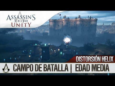 Assassin's Creed Unity | Misión de Distorsión Helix | Campo de batalla - Edad Media | 100%