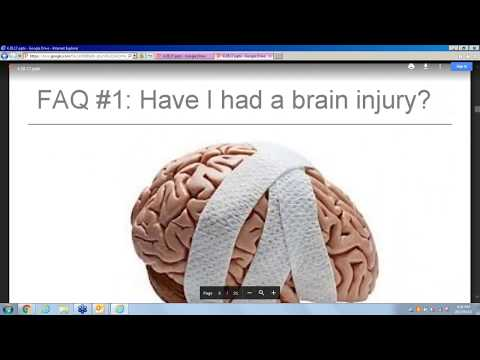 Management of Symptoms of Mild Traumatic Brain Injury