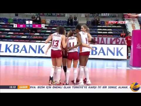 Halkbank vs Gatalasaray | 24 Mar 2017 | Turkish Women's Volleyball League 2016/2017