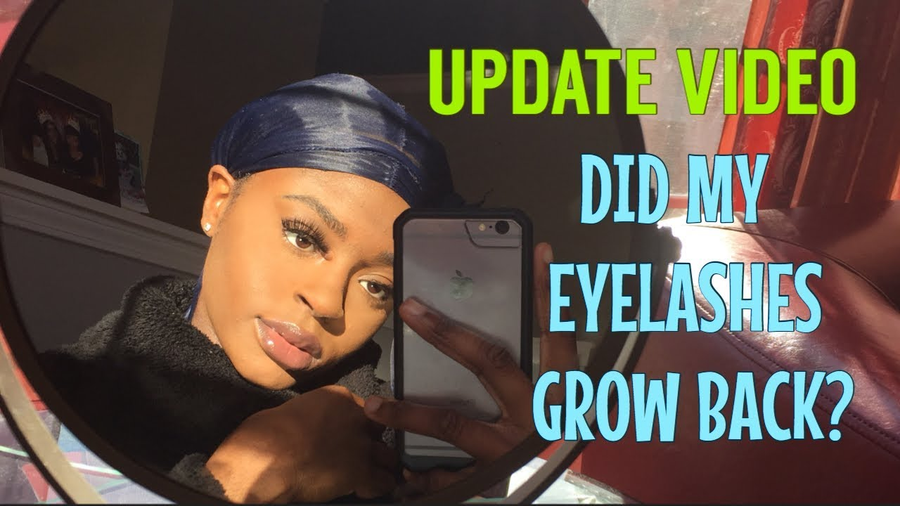 UPDATE VIDEO: did my eyelashes grow back? - YouTube