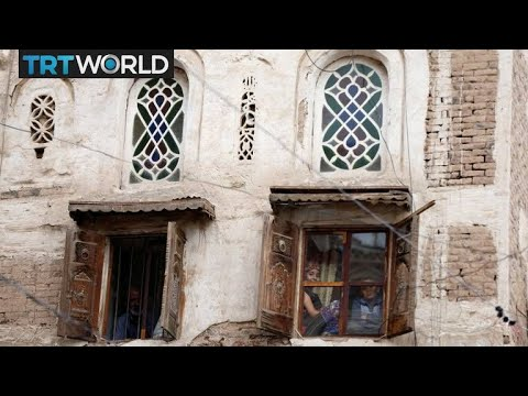 The War in Yemen: Destroyed buildings in Sanaa's old city rebuilt