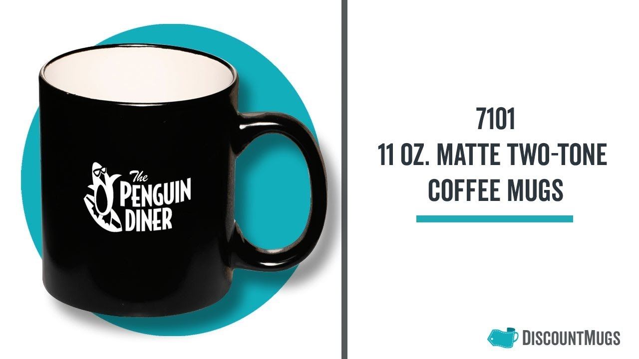 Personalized 11 oz  Matte Two-Tone Coffee Mugs