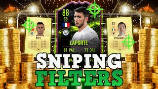 FIFA 21 INSANE SNIṖING FILTERS! HOW TO MAKE 100K RIGHT NOW ON FIFA 21! BEST PLAYERS TO SNIPE ON FIFA