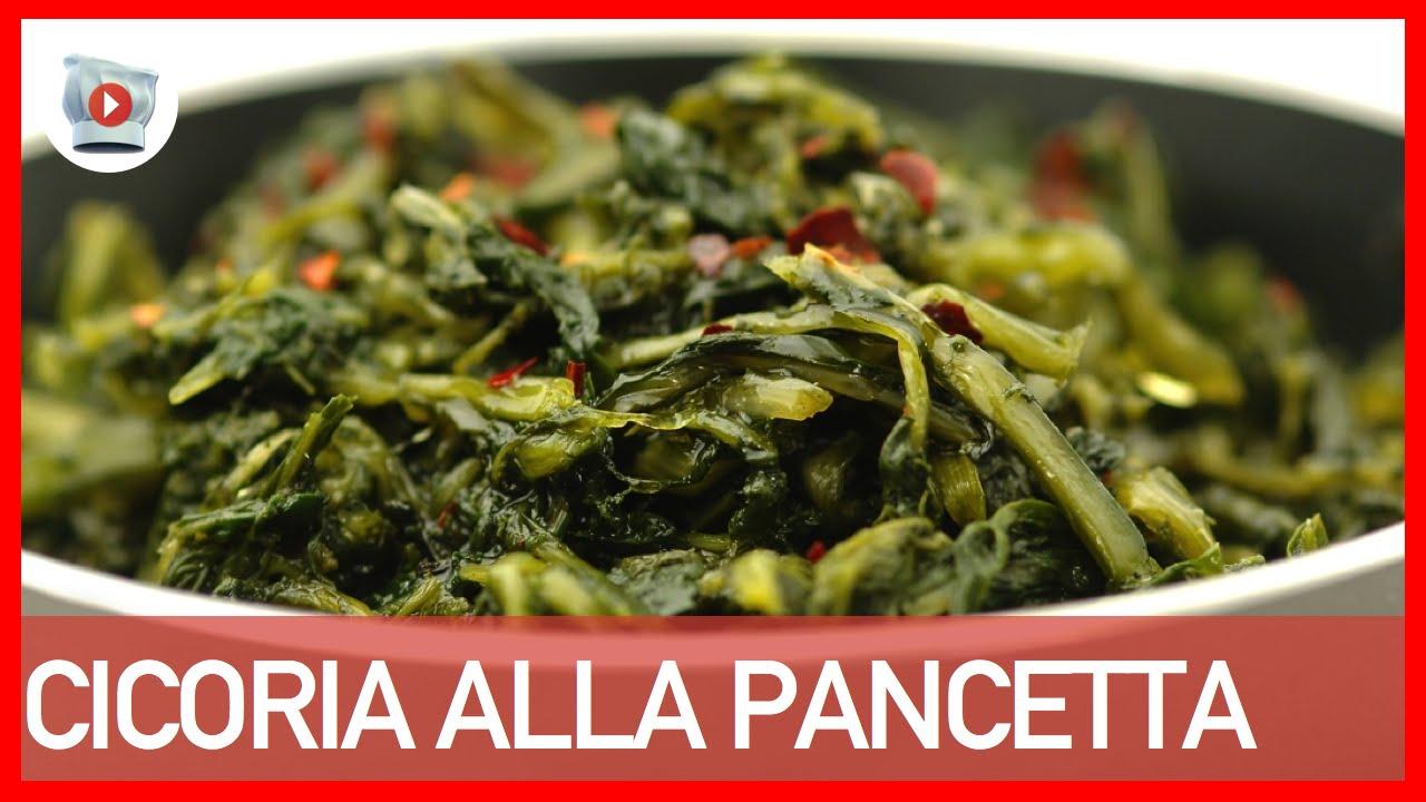 Cicoria alla Pancetta [4 Step] - YouTube
