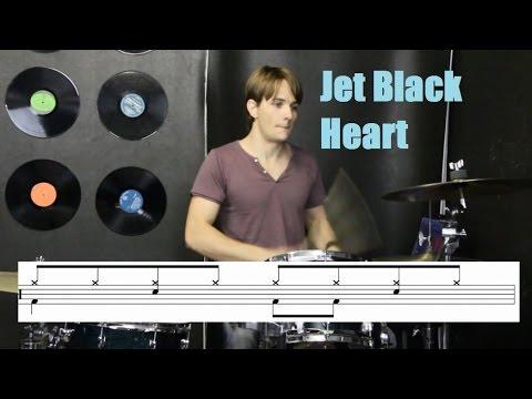 Jet Black Heart Drum Tutorial  5 Days of 5SOS Day 1