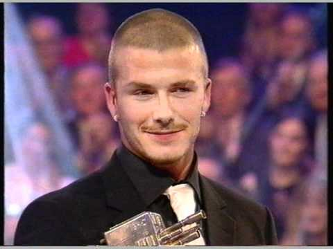 David Beckham wins Sports Personality of the Year 2001