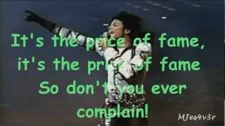 Michael Jackson - Price Of Fame (lyrics) 1080p