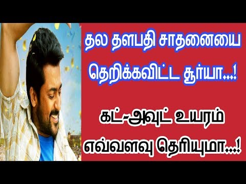 Biggest Cut-out Of Surya Do You Know How Many Feet? | Nellai Ram Cinemas