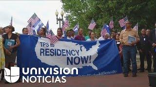 Inmigrantes centroamericanos fueron hasta la Casa Blanca para abogar por la permanencia del TPS