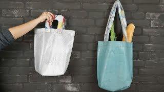 Eine langlebige Tasche aus beschissene Plastiktüten #preciousplastic