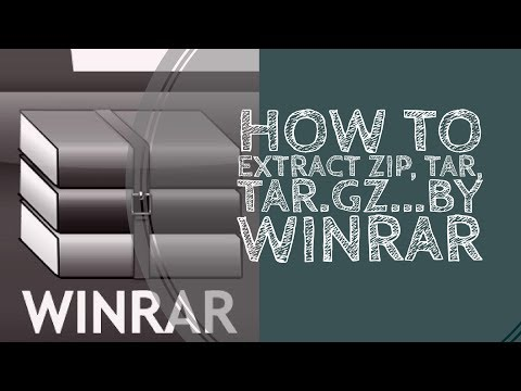 How To Extract ZIP, TAR, TAR.GZ...By Win Rar in Windows | Download WIN RAR Software Free