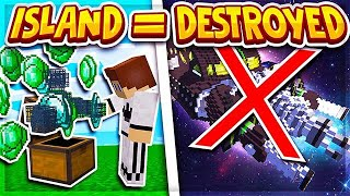 OUR ENTIRE ISLAND FELL APART (ITS OVER...) | Minecraft Skyblock | VanityMC | Space [4]