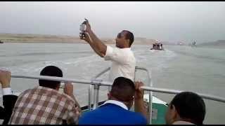 هانى عبد الرحمن الصحفى الذى قام بتوثيق قناة السويس الجديدة خلال توثيق المشروع