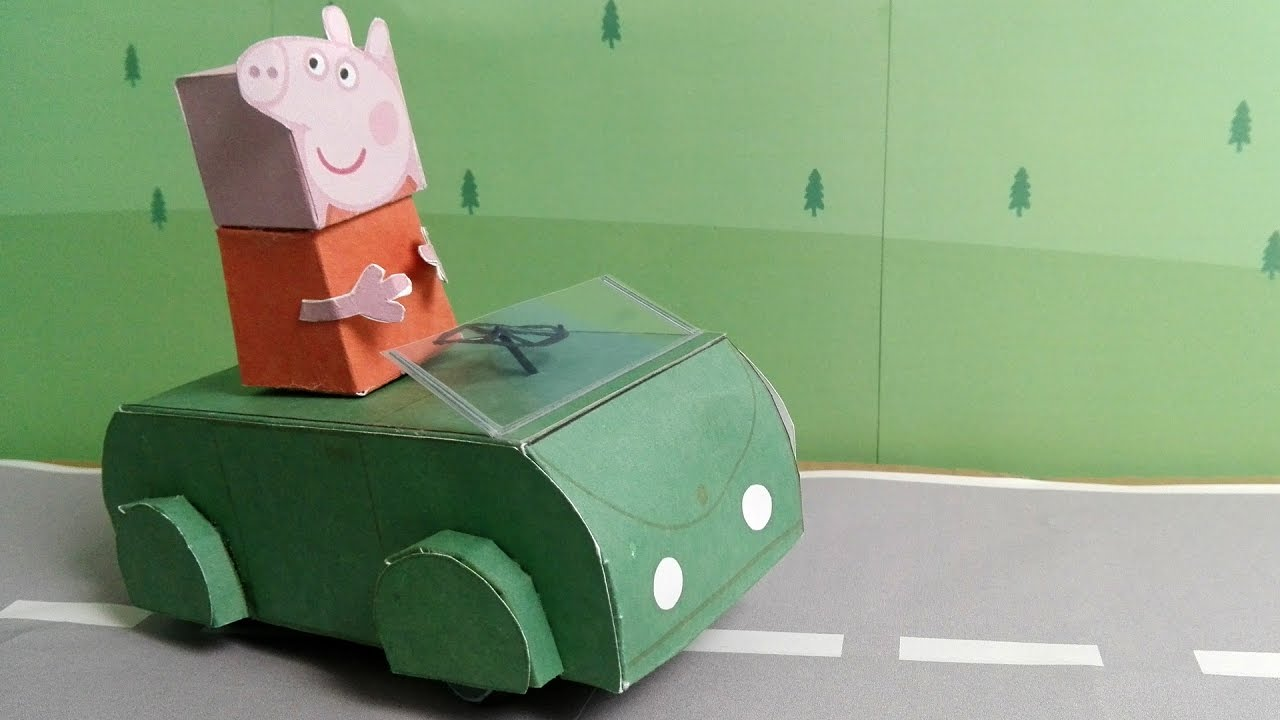 Peppa Pig Loves A Driving Car Youtube