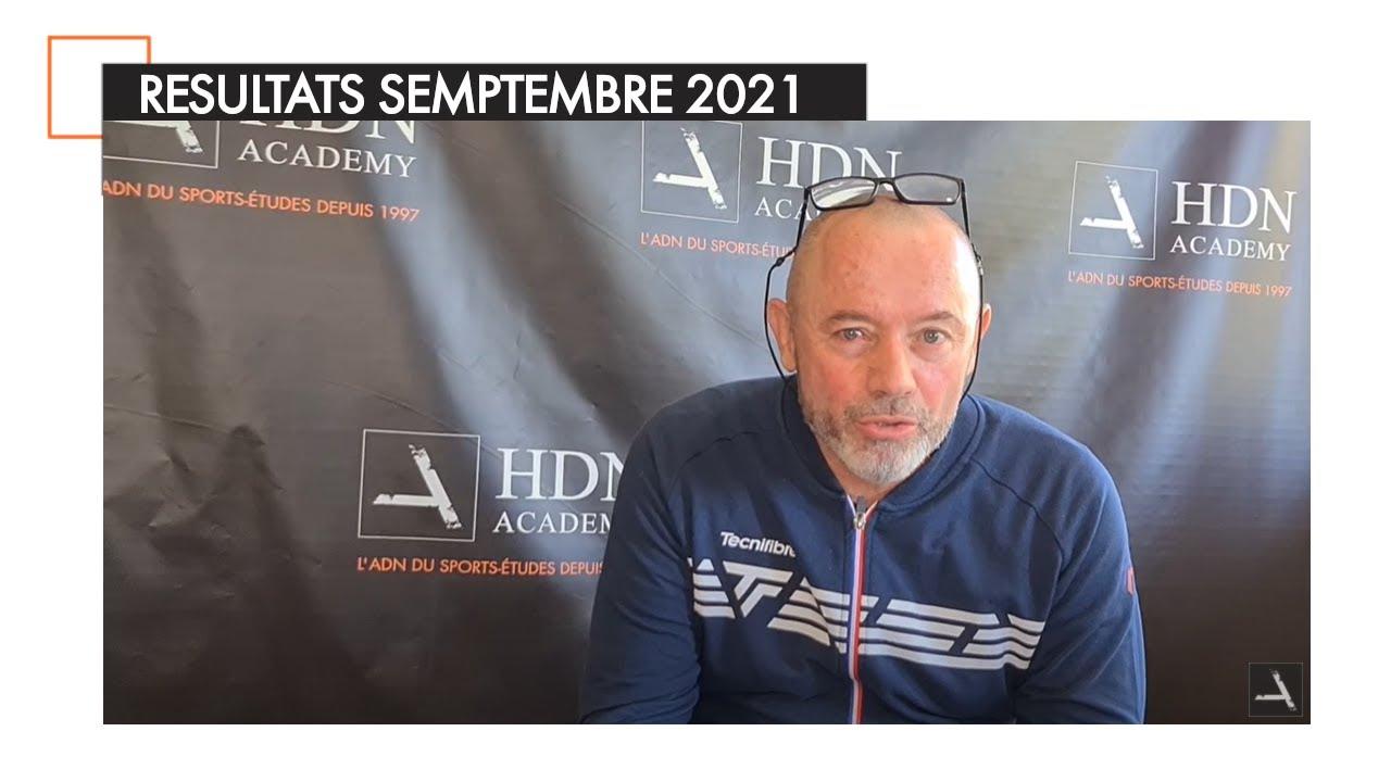 Résultats de nos académiciens - Septembre 2021