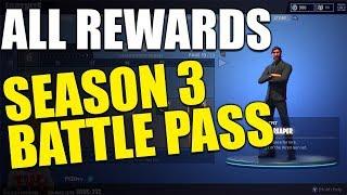 Every Season 3 Battle Pass UNLOCK | Tier 1-100 | Fortnite