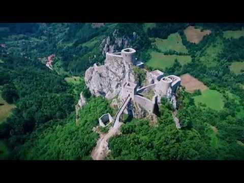 Stari grad Srebrenik iz zraka - www.dron.ba