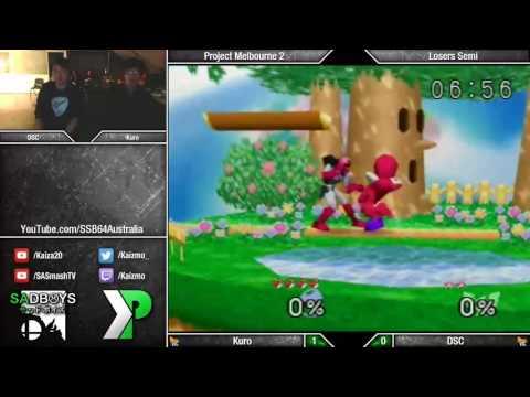 Project Melbourne 2 - SSB64 - Kuro (Link/Yoshi) vs DSC (Link/C. Falcon) - Losers Semis