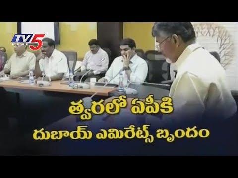 CM Chandrababu Video Conference With Dubai Emirates | TV5 News