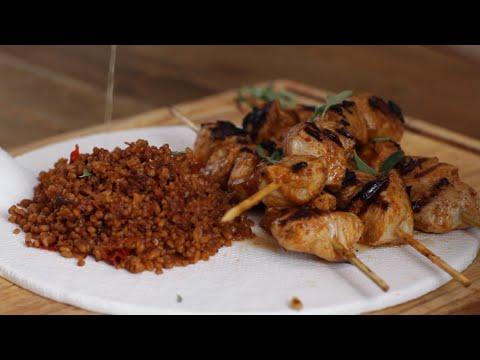 Turkish Chicken Kebab And Bulgur Pilaf Recipe