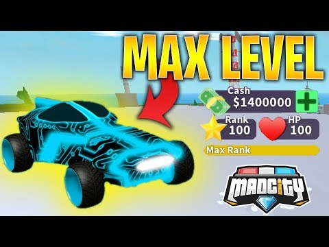 MAD CITY BECOMING MAX LEVEL AND UNLOCKING THE NEW CARS