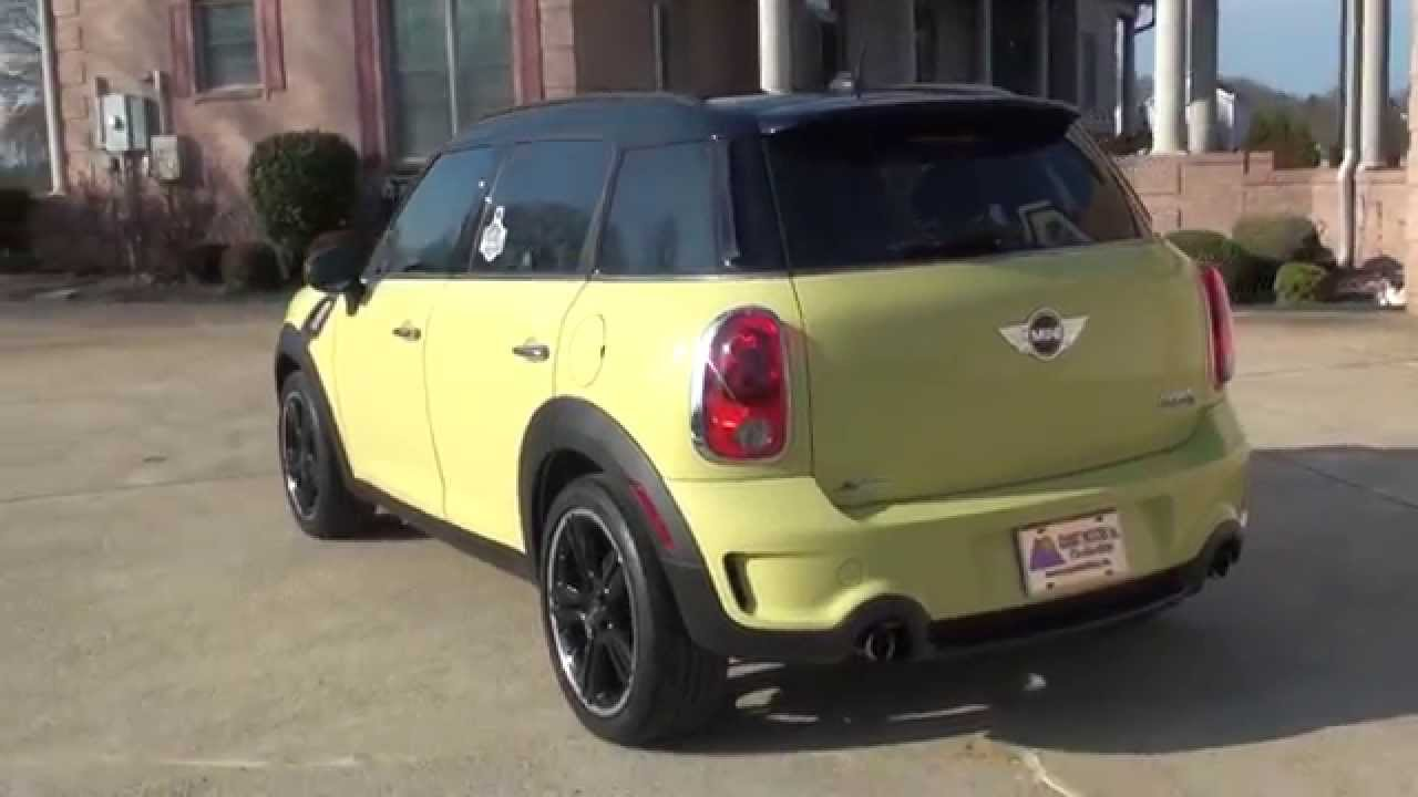 HD VIDEO 2011 MINI COOPER S COUNTRYMAN YELLOW FOR SALE SEE WWW ...