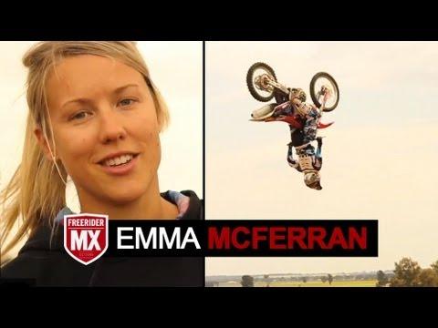 Emma McFerran Backflip | Presented by FreeriderMX Magazine
