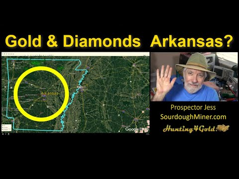 Where To Find Gold And Diamonds In Arkansas (Gold Maps)
