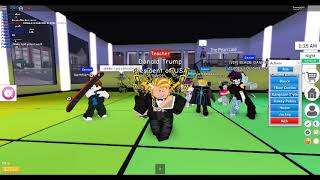 DONALD TRUMP IS DANCING IN ROBLOX!!!