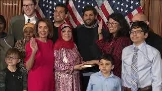 Islamic Sharia Law Muslim USA congress women sworn in on Quran 1 wearing Hijab January 2019 News