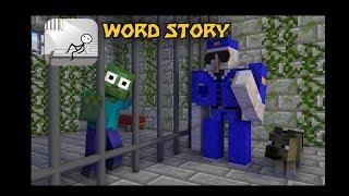 Monster School  Words Story Challenge - Minecraft Animation